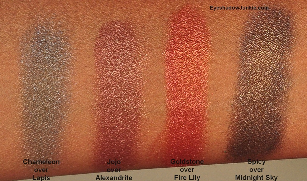 All swatches done over Urban Decay Primer Potion and applied with my finger.